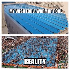 21 Swimming Memes- that warm up pool Swimming Funny, Swimming Memes, I Love Swimming, Funny Swimming Quotes, Triathlon, Swim Mom, Competitive Swimming, Synchronized Swimming, Swimmer Quotes