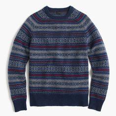 bb0bfd72a06d J.Crew Mens Lambswool Fair Isle Sweater (Size Fair Isle Pattern, Men's  Sweaters
