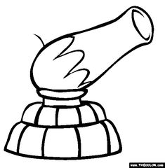 Circus Cannon Coloring Page | Free Circus Cannon Online Coloring @Phyllis Simons Payne
