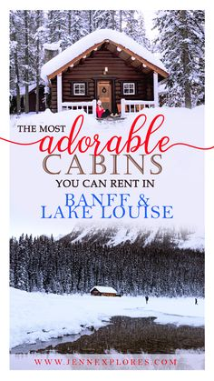 The Cutest Cabin Rentals in Banff and Lake Louise, Alberta – jenn explores – travel, landscape and lifestyle photographer % – Honeymoon Vacation Destinations, Vacation Trips, Canada Destinations, Holiday Destinations, Vacation Ideas, Banff Cabins, Lake Cabins, Calgary, Banff Canada
