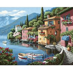 Dimensions Lakeside Village Paint-by-Number Kit