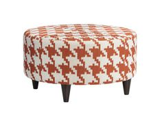 Try an ottoman in an unexpected shape and fabric, like this houndstooth version #LearnFromVern #hgtvmagazine http://www.hgtv.com/decorating-basics/learn-from-vern-ottomans/pictures/page-2.html?soc=pinterest