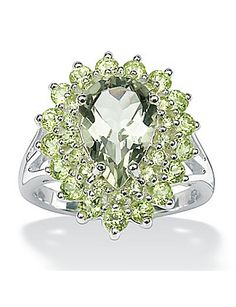 Green Amethyst and Peridot Ring by Palm Beach Jewelry