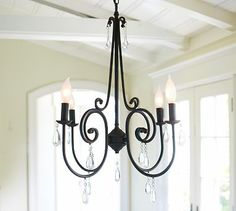 Love this chandelier! I just purchased it for one of my clients :) Audrina Chandelier #potterybarn