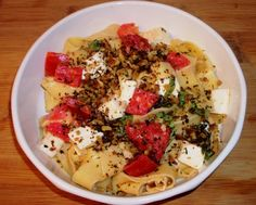 Meatless Monday - Caprese Pasta (recipe courtesy of Michael Symon from The Chew). This was so good and the tomatoes from Downing Fruit Farms make this dish. It's a great, light and healthy pasta dish.