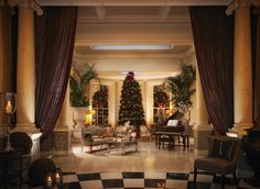 The Grand Foyer at Christmas