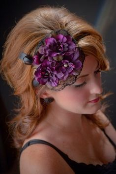 Plum Purple Fascinator