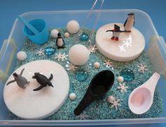 Penguin Sensory Box/Sensory Bin by ChildsPlayCreations on Etsy, $16.00
