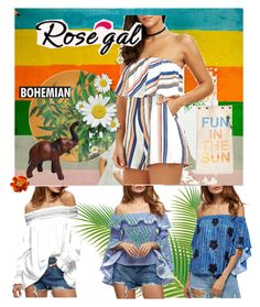 """""""Rosegal - Off Shoulder"""" by achoa-koolen on Polyvore featuring mode en tote+able"""