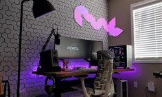 Diy Computer Desk Ideas ☼ Via Homesable Room Setup Gamer Room Room Setup Desk, Computer Desk Setup, Pc Setup, Office Setup, Office Chairs, Office Desk, Good Gaming Desk, Best Computer Chairs, Gamer Setup