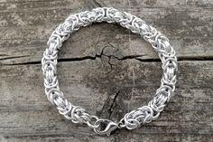 Byzantine Bracelet Simple Bracelets, Byzantine, Pattern, Silver, Etsy, Jewelry, Jewlery, Money, Jewels
