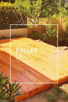 We built this Beautiful Pallet Deck in 2 working days (including refreshment and bbq breaks). Our budget was 150 € (about 168.00 U.S.D.).