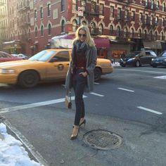 Preparada para ir a la presentación de la nueva colección de Pedro del Hierro #FW14/15 #PedroDelHierroMadrid #Chelsea #NYC !!Vestida de Pedro del Hierro #marialeonstyle