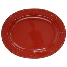 """Sorrento Oval 14"""" Platter in Ruby Red by Signature Housewares #SignatureHousewares"""