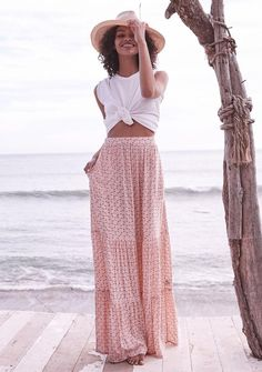 Bella Maxi Skirt Musk Pink | Auguste The Label