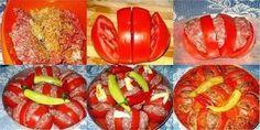 Запеченные помидоры с фаршем - вкусно и красиво