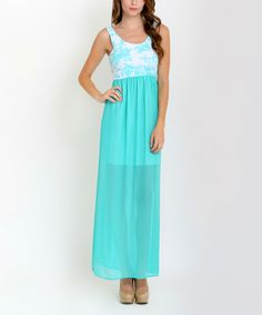 Look at this Mint Floral Maxi Dress on #zulily today!