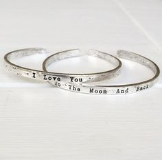 Image of I Love You To The Moon And Back bracelet set