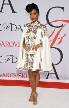 Janelle Monae Photos - Janelle Monae attends the 2015 CFDA Fashion Awards at Alice Tully Hall at Lincoln Center on June 1, 2015 in New York City. - 2015 CFDA Fashion Awards - Inside Arrivals