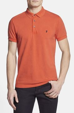Men's French Connection 'Simple' Slim Fit Pique Polo