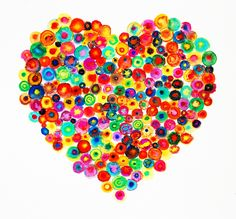 Heart Large Abstract Colorful Canvas Print - 'Sweet Heart' - Ltd Edition 195, via Etsy.