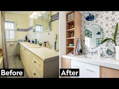 Home Depot Small Bathroom Makeover: This 90s Bathroom Gets Renovated! - YouTube