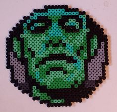 Week 21, Day 141, Frankenstein. 365 Day Perler Bead Challenge.
