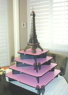 Did someone say Eiffel Tower themed cupcake stand? Ok this would be good for Wedding Cupcakes Paris Themed Birthday Party, Birthday Party Themes, Spa Birthday, Jasmin Party, Paris Sweet 16, Paris Baby Shower, Parisian Party, Bar A Bonbon, Cake And Cupcake Stand