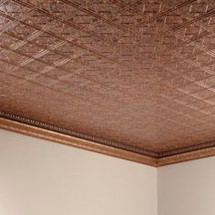Fasade Traditional Style #4 Cracked Copper 2 ft. x 4 ft. Glue-up Ceiling Tile