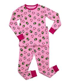 This Pink Owl Pajama Set -  Kids is perfect! #zulilyfinds