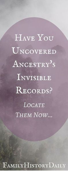 Uncovering Ancestry's 'invisible' records could boost your genealogy research and improve your family tree. Uncovering Ancestry's 'invisible' records could boost your genealogy research and improve your family tree. Free Genealogy Sites, Genealogy Forms, Genealogy Search, Family Genealogy, Genealogy Chart, Ancestry Records, Ancestry Dna, Family Tree Research, Genealogy Organization