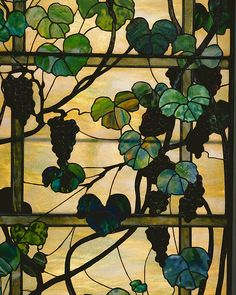 Stained Glass Window, Louis Comfort Tiffany, New York NY, American, leaded opalescent glass, ca.1902-15