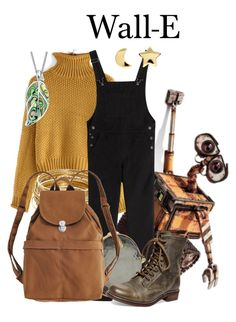"""""""Wall-E"""" by megan-vanwinkle ❤ liked on Polyvore featuring ABS by Allen Schwartz, AG Adriano Goldschmied, Ippolita, BAGGU, Steve Madden, Bling Jewelry and Erica Weiner"""