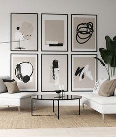 Living Room Trends, Living Room Art, Interior Design Living Room, Interior Decorating, Inspirational Wall Art, Minimalist Decor, Beautiful Bedrooms, Abstract Wall Art, Gallery Wall