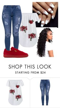 """""""Untitled #181"""" by ayyye-itsmariah ❤ liked on Polyvore featuring Puma"""