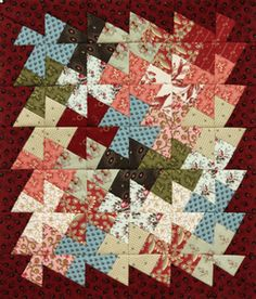 Tutorial for the primitive pinwheels pattern Small Quilts, Easy Quilts, Quilting Ideas, Quilting Designs, Twister Quilts, Quilting For Beginners, Sewing Notions, Pinwheels, Nifty
