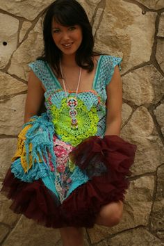 Dada Crochet Dress by rubypearl on Etsy, $188.00  I found this on Regretsy, but so sorry... I LOVE IT!! Perfect faerie-wear!!!