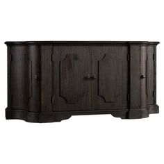 Perfect for displaying an arrangement of bright blooms in the den or stowing extra place settings in your dining room, this timeless credenza showcases an es...