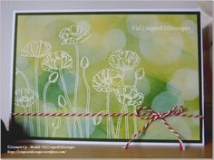 Val CoupesEtDecoupes Independent Stampin'Up demonstrator - Pleasant Poppies - Bokeh