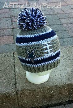 Dallas Cowboys Crochet Hat Dallas Cowboys Beanie by AtTheLilyPond