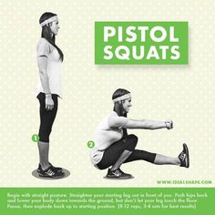 #FitnessFriday Tip - Let me start by saying, these are not for everyone ... they are difficult to do. But working pistol squats into your leg day will dramatically strengthen the muscles in your hips, quads, glutes, hamstrings, etc.