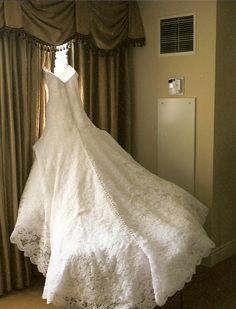Beautiful caroline herrera dress jessica simpson wedding from ok wedding dress vera wang for jessica simpson junglespirit Images