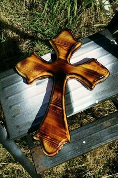 These are Handcrafted in my Texas Woodshop. The cross are made from wood. I added the country decor look to the cross, that will look fabulous hanging in your home. Wooden Crosses, Wall Crosses, Crosses Decor, Custom Wooden Signs, Rustic Wood Signs, Wooden Decor, Wooden Crafts, Rustic Decor, Farmhouse Decor