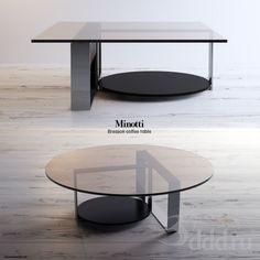 Minotti - Bresson coffee table 3dsMax 2012 + fbx (Vray) : Столы : Файлы : 3D модели, уроки, текстуры, 3d max, Vray