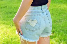 Another easy and clever DIY for shorts, these shorts started as cheap op-shop men's jeans!
