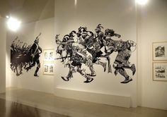 Wall graphics for Sergio Toppi exhibition at Bilbolbul 2009