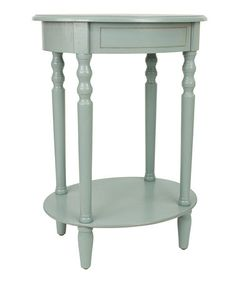 Love this Antique Blue Oval Accent Table on #zulily! #zulilyfinds