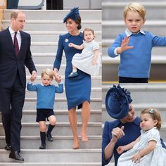 ROYAL TOUR! Princess Charlotte arrives in Canada in mum's arms, while Prince George gives a royal wave!