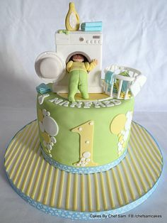 Washing Machine themed cake! - by chefsam @ CakesDecor.com - cake decorating website