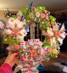 Wreath my sister and I made for my Candyland Christmas!!